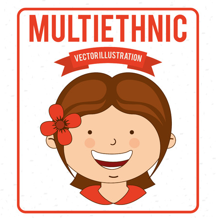 multiethnic design , vector illustration Vector