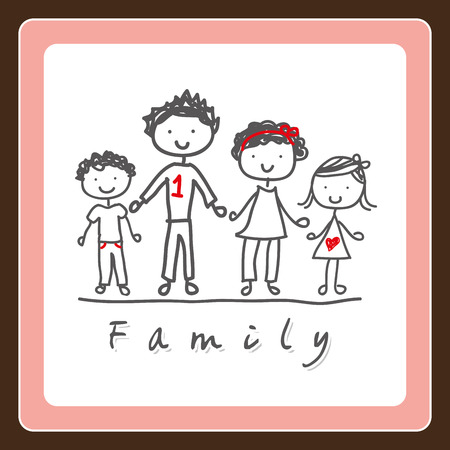 one parent: family design , vector illustration