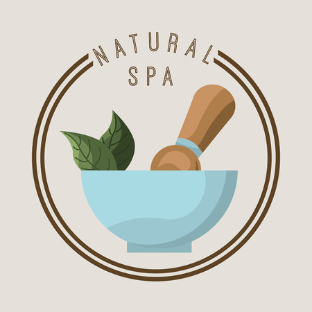 rejuvenation: spa center design , vector illustration