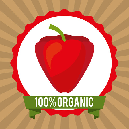 product signal: organic healthy food design , vector illustration