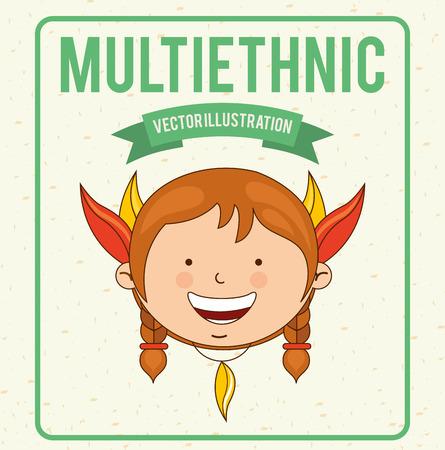 multiethnic: multiethnic design , vector illustration
