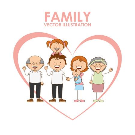 cartoon grandmother: love design , vector illustration