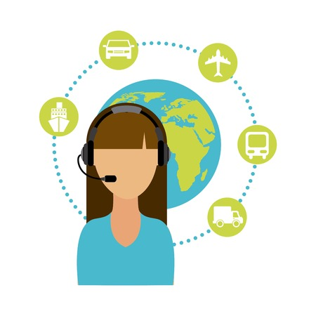 travel agent: travel agent design , vector illustration Illustration