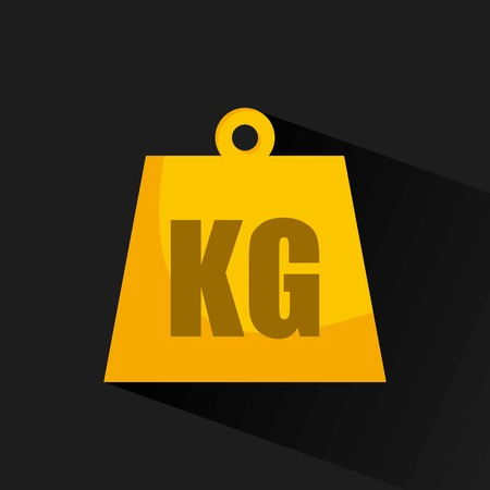 heavy weight: kg design illustration