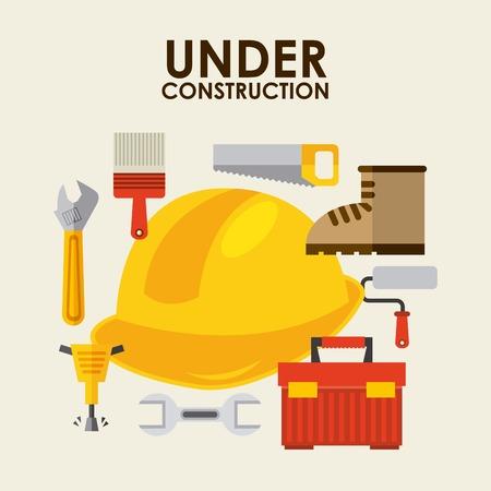 under construction design illustration Vector