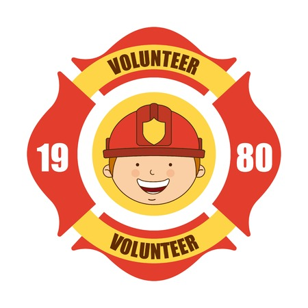 Feuer Freiwilliger icons design illustration Vektorgrafik