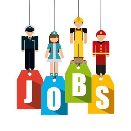 jobs: jobs design illustration Illustration