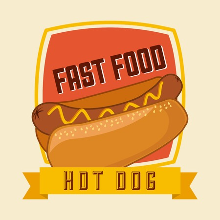 fast food  design , vector illustration Vector