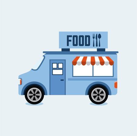 voedsel vrachtwagen ontwerp illustratie Stock Illustratie