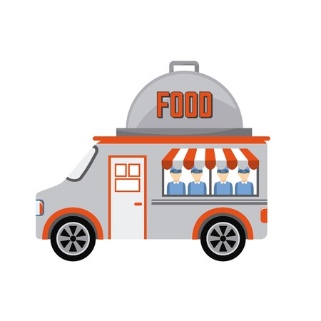 food truck design illustration 向量圖像
