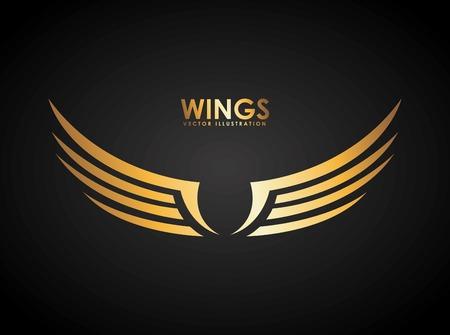 birds wings: wings design illustration Illustration