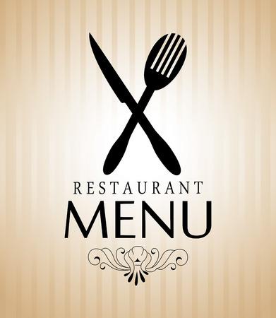 Restaurant menu design over beige background