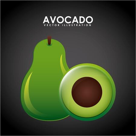 avocado: avocado design , vector illustration