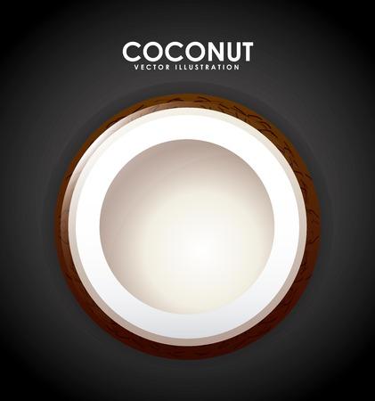 coconut fruit: coconut fruit design