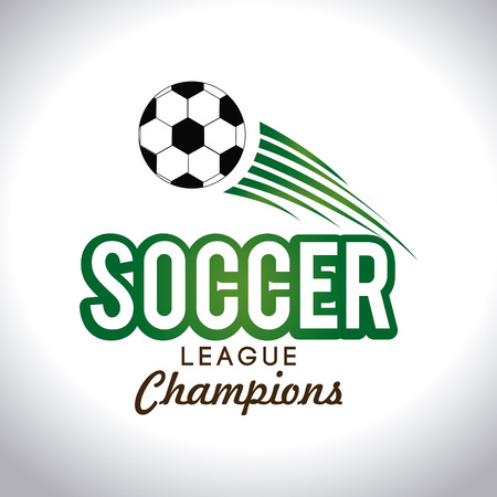 Soccer league champions Sport design over white background