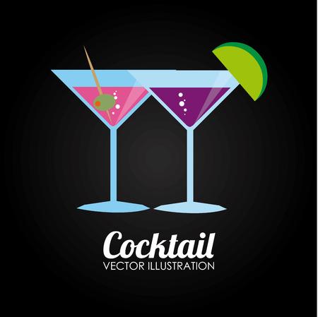 cocktail drink: Cocktail Drink design over black background