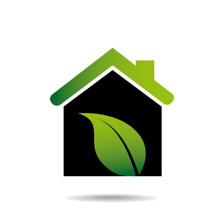hometown: Green Home design over white background Illustration