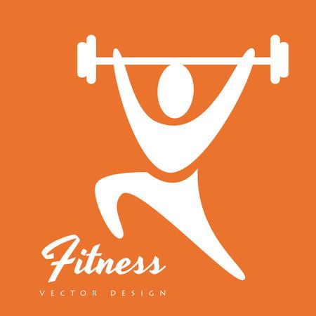 fitness trainer: Fitness design over white background Illustration