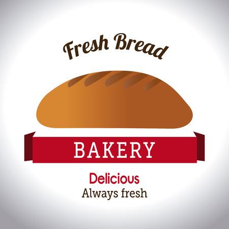 pain frais: Bakery conception de pain frais sur fond blanc