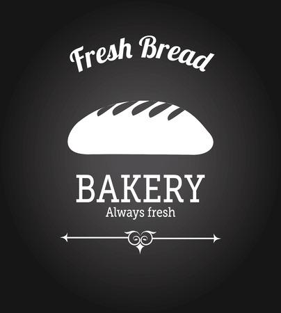 pain frais: Bakery conception de pain frais sur fond noir