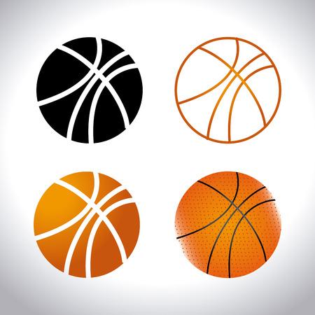 basketballs: Basketballs Sport design over white background
