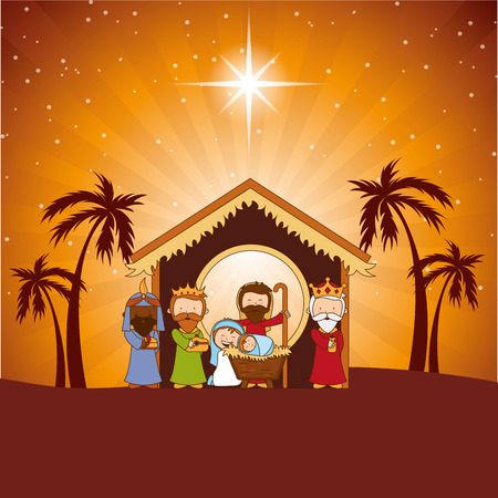 stable: christmas  design , vector illustration