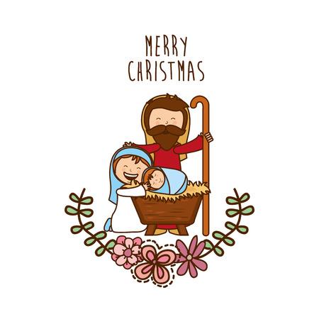 nacimiento de jesus: dise�o de la navidad, ilustraci�n vectorial Vectores