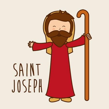 born saint: christmas design , vector illustration
