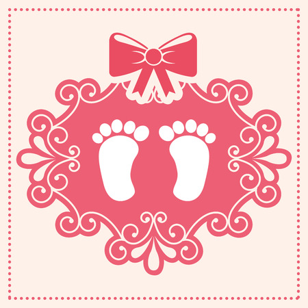 new arrival: baby card  , vector illustration