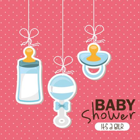 milk bottle: baby design , vector illustration