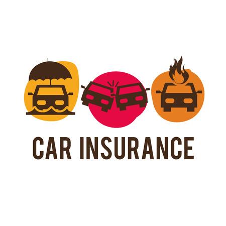 car accident: insurance design , vector illustration Illustration