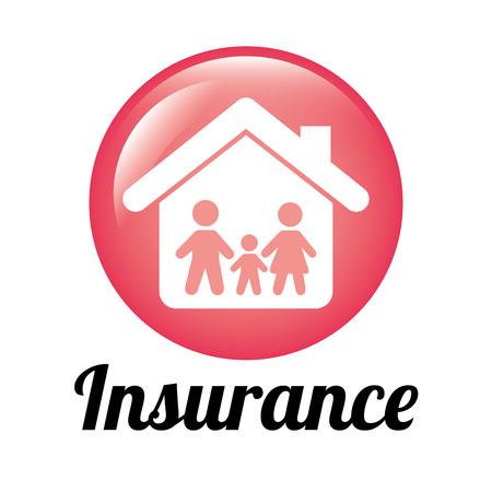 security token: insurance design , vector illustration Illustration