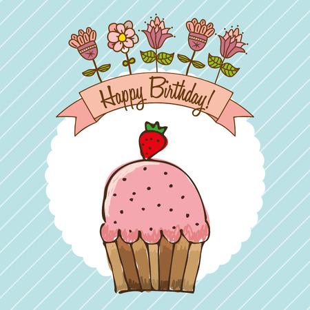 birthday design , vector illustration Vector