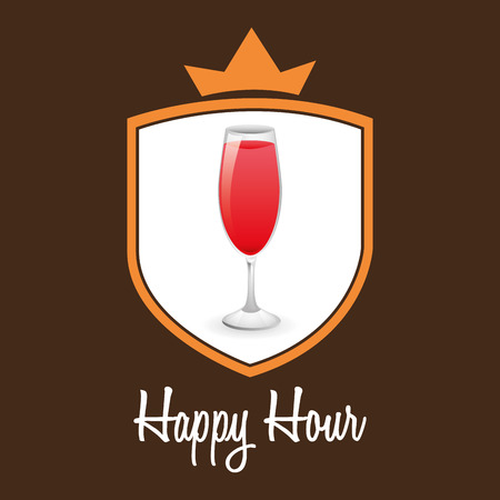 hour glasses: happy hour design, vector illustration Illustration