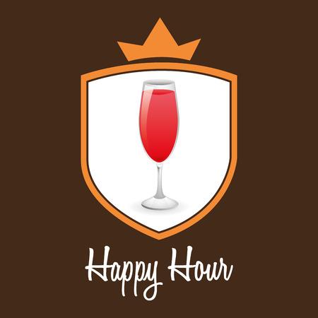 happy hour: happy hour design, vector illustration Illustration