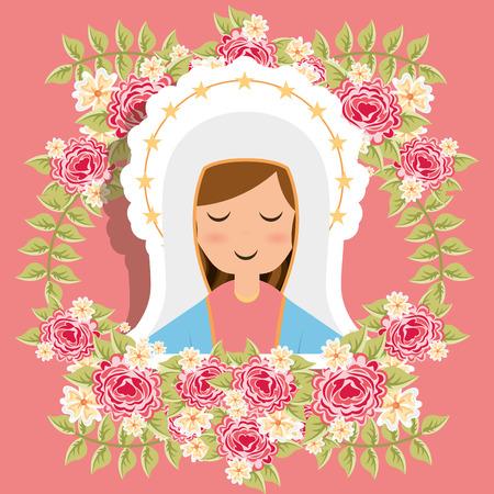 saint mary: virgin design, vector illustration