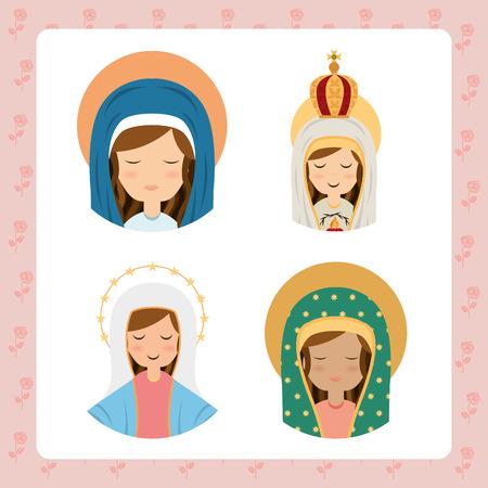 vierge marie: la conception vierge, illustration vectorielle