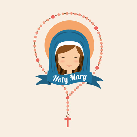Mother Mary: virgin design, vector illustration