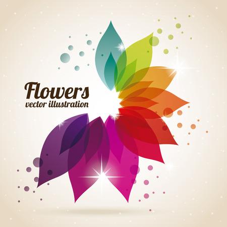 floral  design , vector illustration Vettoriali