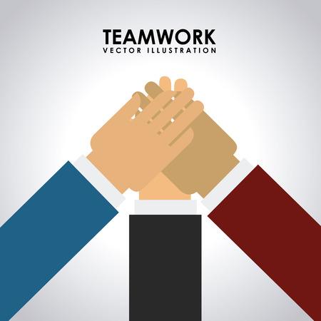 Diseño de trabajo en equipo, ilustración vectorial Foto de archivo - 34316789