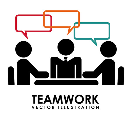 speech ballons: teamwork  design , vector illustration