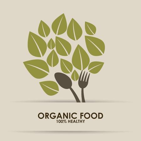 Biologisch voedsel ontwerp Stockfoto - 34426512