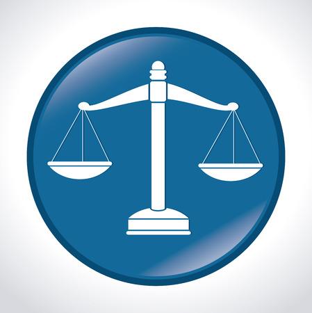 tribunal: Law Design over white background, vector illustration.