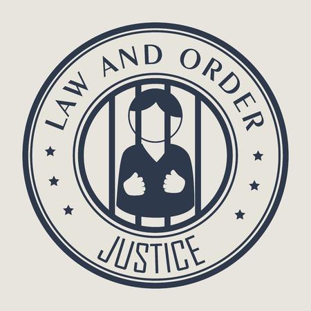 Law Design over beige background, vector illustration.