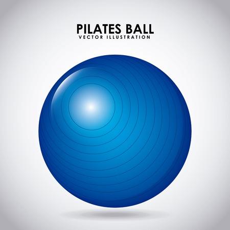 pilates ball: gym label design