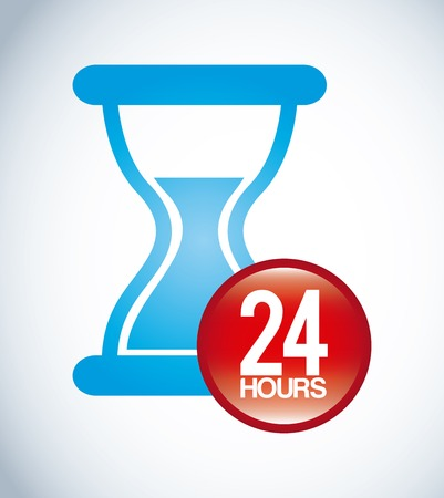24 hr: time design Illustration