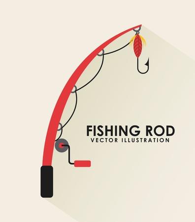 fishing icon design Vector
