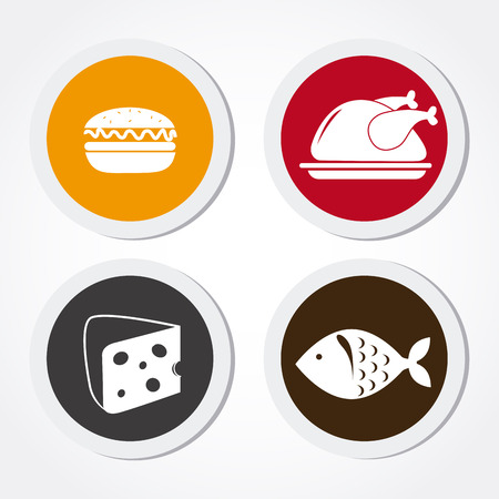 ailment: Alimentos y restaurante de dise�o sobre fondo blanco, ilustraci�n vectorial