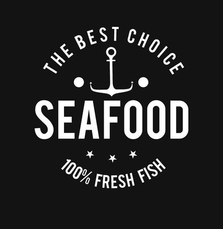 nutritive: Seafood design over black background,vector illustration.