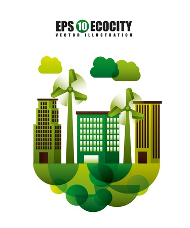 environment friendly: eco friendly Illustration
